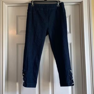 Soft surroundings Jeans with rhinestones at ankle